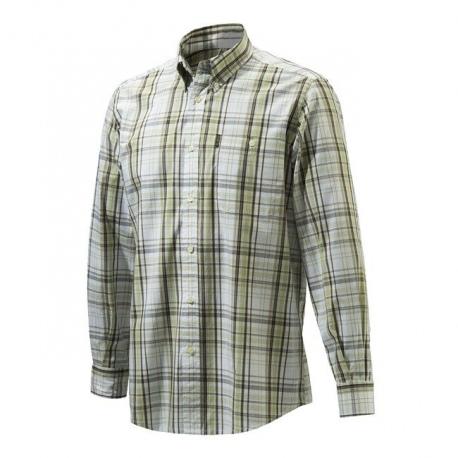 Koszula Beretta Drip Dry White & Green Check LU51
