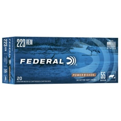 //223REM NB.SOFT POINT 55GRS(3,56G) FEDERAL 223A