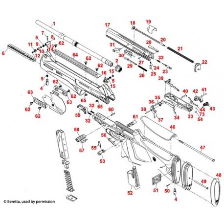 Część Beretta CX4 Storm C5A526