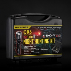 Zestaw myśliwski Nitecore Hunting Kit – Latarka CR6 Chameleon Red 440 Lumenów
